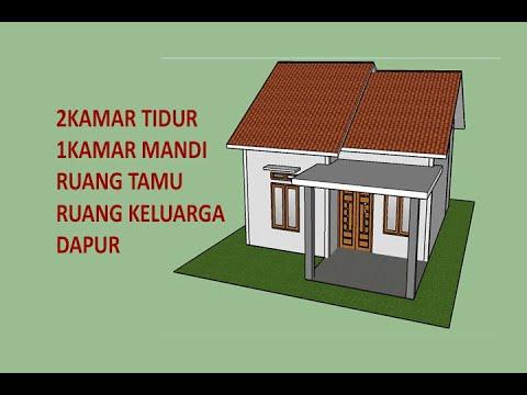 Desain Rumah Minimalis Ukuran 6x7 Meter 2 Kamar Tidur Dengan Tata Letak Sederhana Youtube