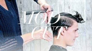 Mod Men's Haircut Tutorial for Medium Length Hair