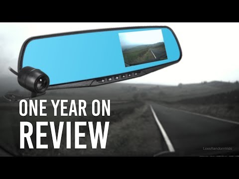 Vehicle Blackbox DVR Full HD 1080p Dual Dash Cam Mirror Review - One Year On! (2018)