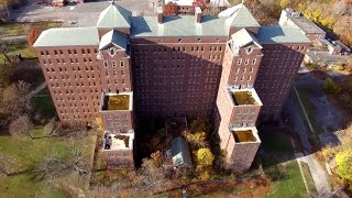 Abandoned Kings Park Psychiatric Center Building 93 Drone Footage