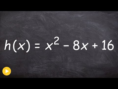 Graphing a quadratic function by finding the vertex and x - intercepts