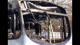 Stirling University Bus fire (clean up) Mobile phone