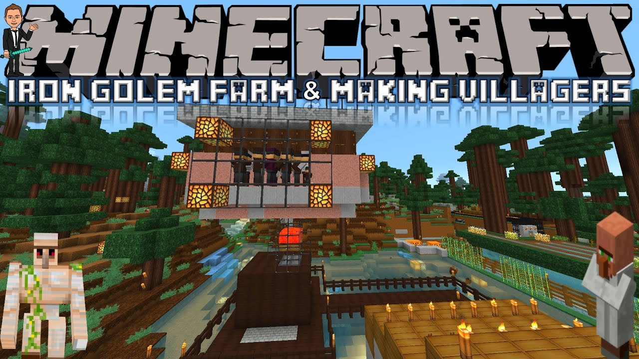 Minecraft: Iron Golem Farm & Making Villagers! - Survival (Minecraft 1 8  Vanilla) by acMATic