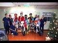 Offroad-moottoripyöräilijöiden joulutervehdys TYKS:n lasten klinikalle 2018