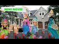 Anna and Elsa Toddlers Move to a New House! Being Together Mini Movie - Toys & Dolls Stories Ep. 1-3