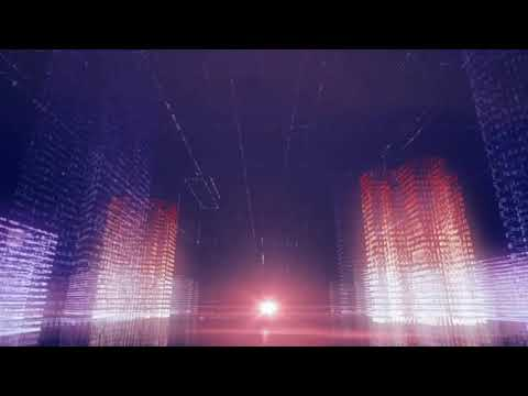 City technology background video loop effects