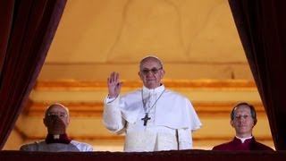 New pope greets crowds in Vatican City - Argentine Jorge Bergoglio Elected Pope Francis