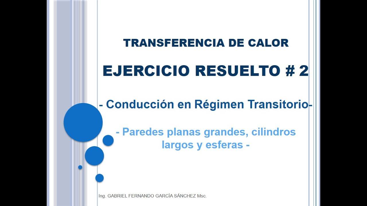 Ejercicio 2 Conducción Transitoria (Esferas) - Transferencia de calor