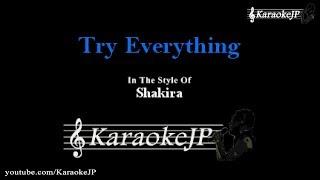 Try Everything (Karaoke) - Shakira