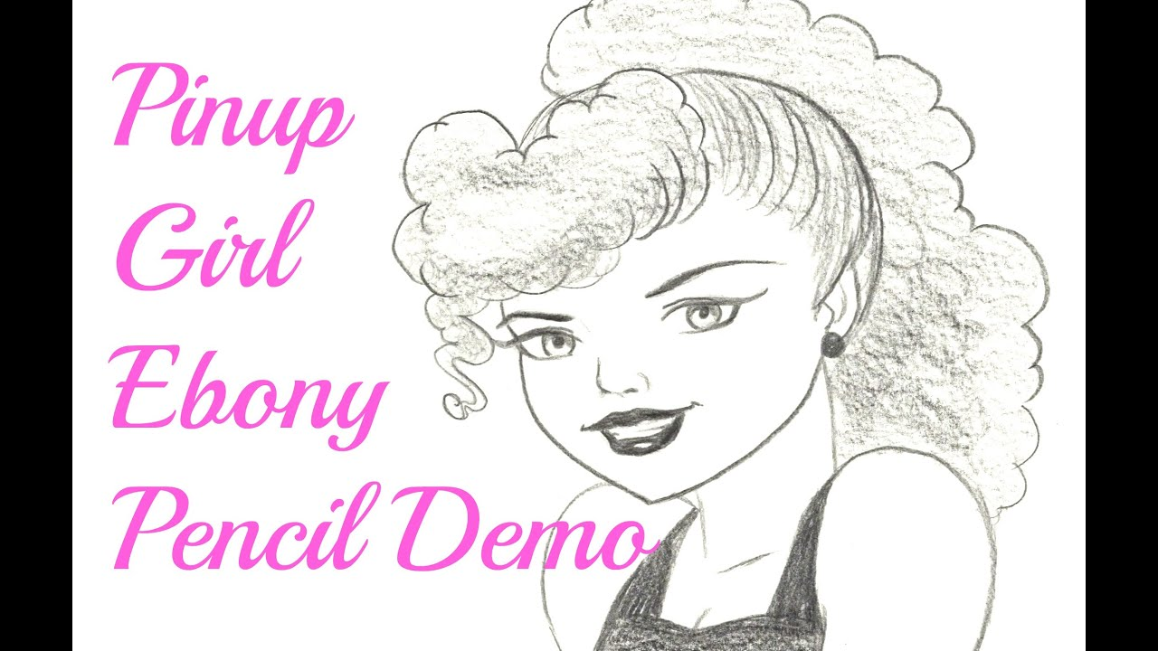 how to draw a pinup girl face