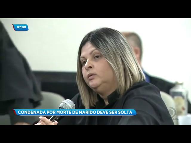 Mulher que encomendou morte do marido é solta três dias após condenação