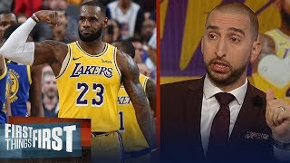 Nick and Cris list expectations for LeBron's Lakers ahead of season debut | NBA | FIRST THINGS FIRST