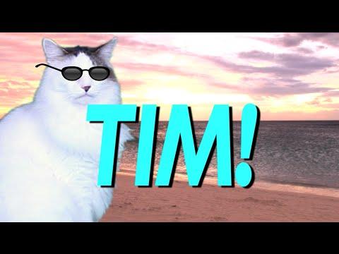 HAPPY BIRTHDAY TIM! - EPIC CAT Happy Birthday Song