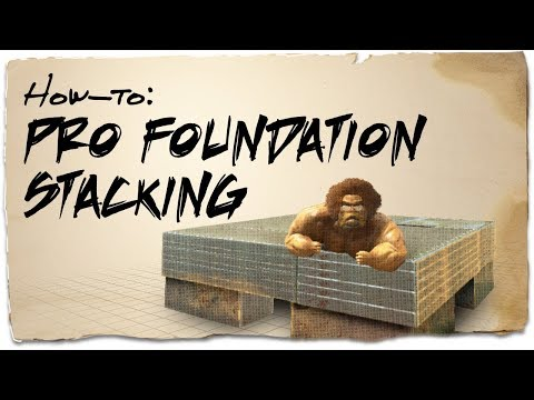How to stack up to 6 foundations on a PvP base | ARK: Survival Evolved | Building Tips