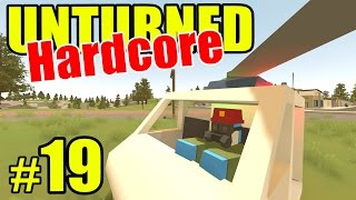 Unturned HARD Mode - Police Helicopter!! - Ep. 19 (Overgrown 3+ Map)