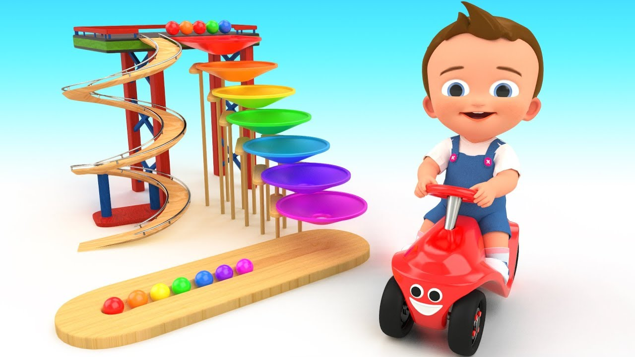 Small World Color Balls Slider Wooden Toy Set 3d Learn