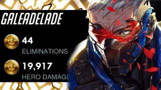 Zapętlaj Unstoppable Carry Soldier 76 - Gale! 44 ELIMS! [ OVERWATCH SEASON 15 TOP 500 ] | Overwatch Pro