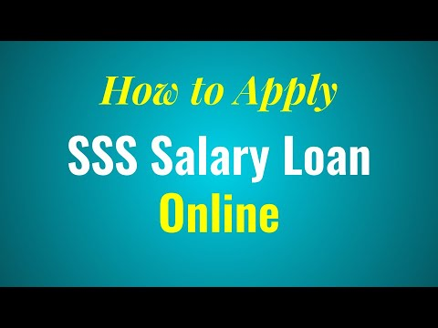 How to Apply for SSS Salary Loan Online