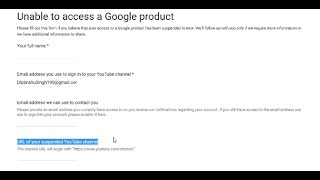 How To Get Suspended Youtube Channel URL For Applications Get Back on YouTube