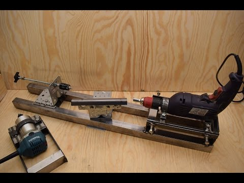 Homemade lathe with a drill, the multi-feature platform Part 1