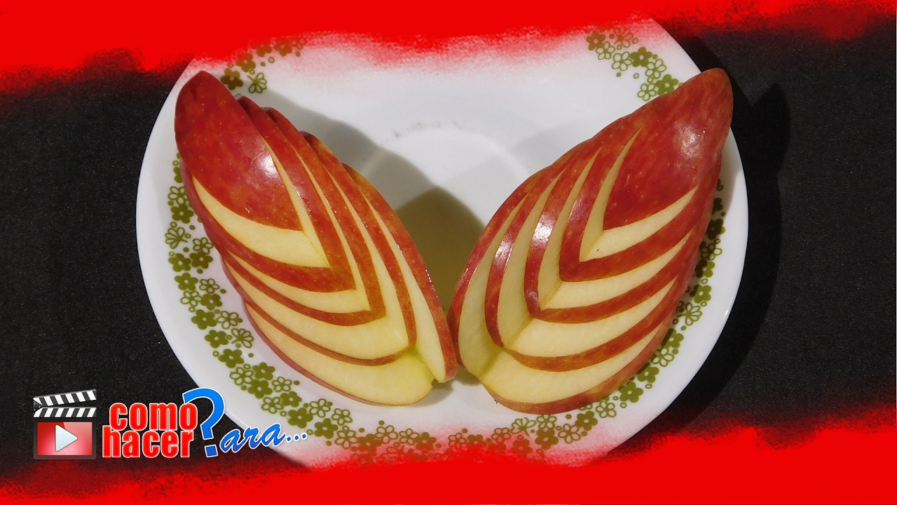 C mo decorar platos manzanas en forma de flor youtube - Decoracion de platos ...