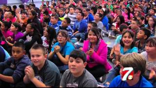 Pecos Fifth Graders Help Peers in Need from Across the Border