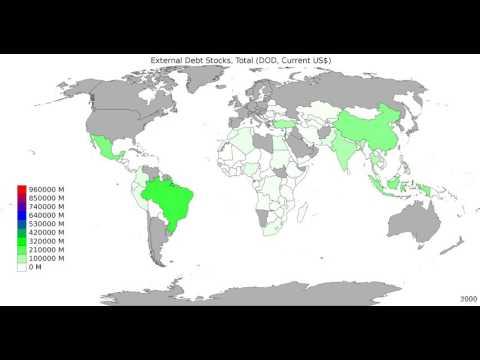 World - External Debt Stocks, Total - Time Lapse