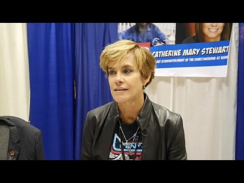 with actress Catherine Mary Stewart at Popcon