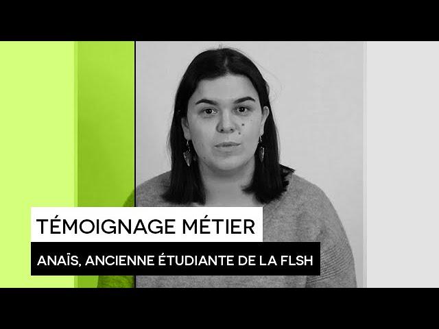 [TÉMOIGNAGE] : Anaïs, ancienne étudiante de la Faculté des Lettres et Sciences Humaines de Limoges