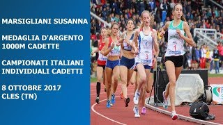 Cles 1000m Cadette 2002 3 Campionati Italiani Individuali 8 Ottobre 2017