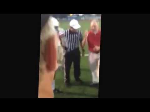Coin toss at the Archbishop Rummel Raiders High School football game