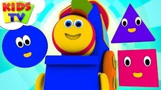 Shapes Train | Bob The Train Cartoons | Nursery Rhymes And Kids Songs | Kids Tv