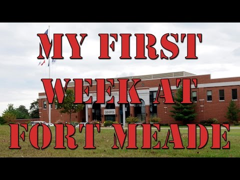 My first week at Fort Meade, MD