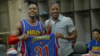 David Johnson Plays with Harlem Globetrotters