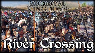 RIVER CROSSING!  Total War Attila MEDIEVAL MOD Early Access Gameplay!