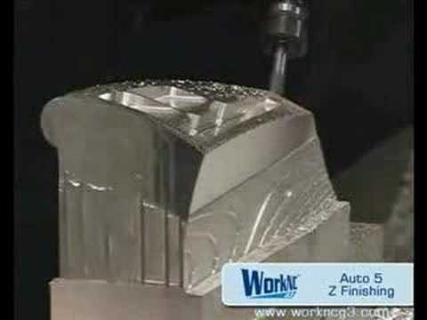 CNC 5 axis semi-finishing machining