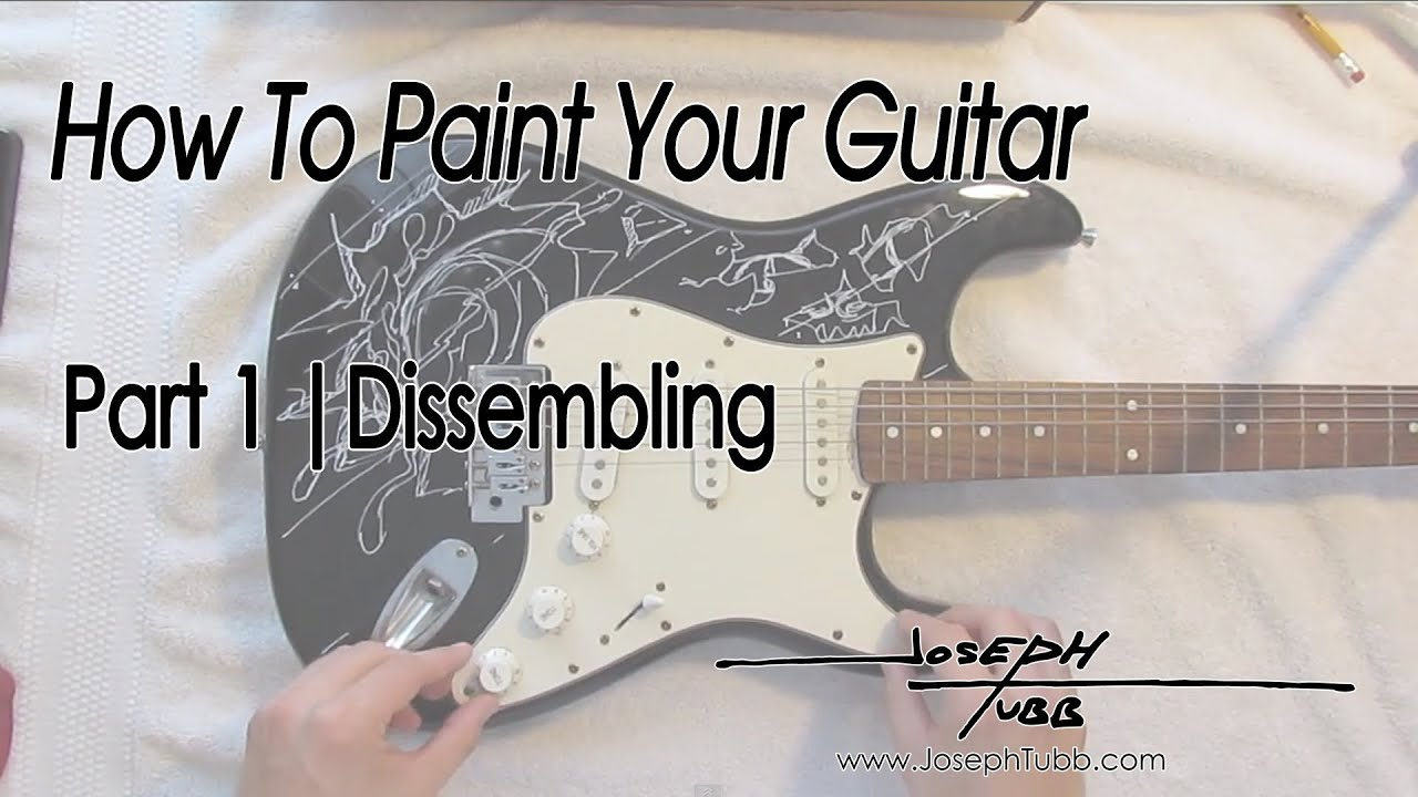 how to paint your guitar part 1 with loop control youtube