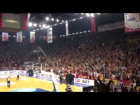 Galatasaray Basketball final 2013 in Istanbul. Amazing fans!