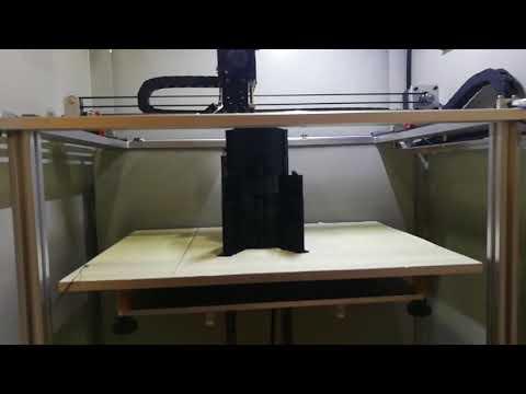 Shenzhen manufacturer MD 6L 3D Printer working video