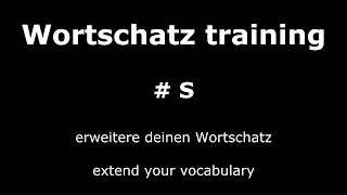 Learn German Lesson 17 | Important and Useful Words #S | Core Vocabulary | German ⇔ English Audio ♫
