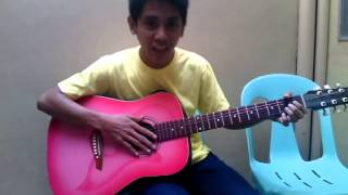 how to play Bahay Kubo using the basic chords (A, E and D)