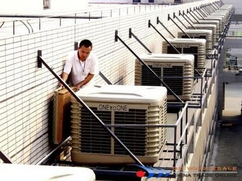 assembling of evaporative air coolers enery saving industrial desert air cooling equipment