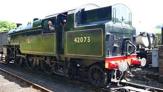 42073 BR Fairburn Tank Steam Loco, Lakeside & Haverthwaite Preserved Railway May 2018