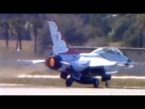 F-16 Full Afterburner Takeoff & UNRESTRICTED Climb (USAF Thunderbirds)