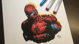 How to draw SPIDER-MAN - Featuring ZHCOMICART