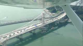 Flying Over The New Bay Bridge San Francisco