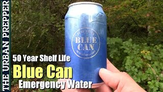 Blue Can Emergency Water Review: 50 Year Shelf Life!
