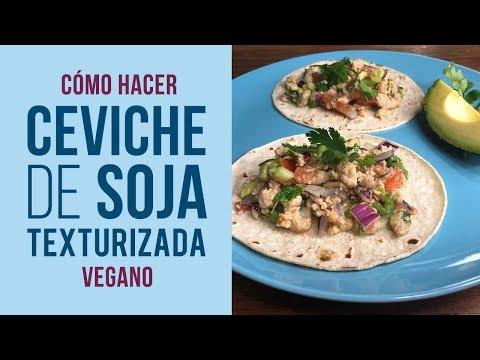 Ceviche Vegano de Soja Texturizada sin Pescado
