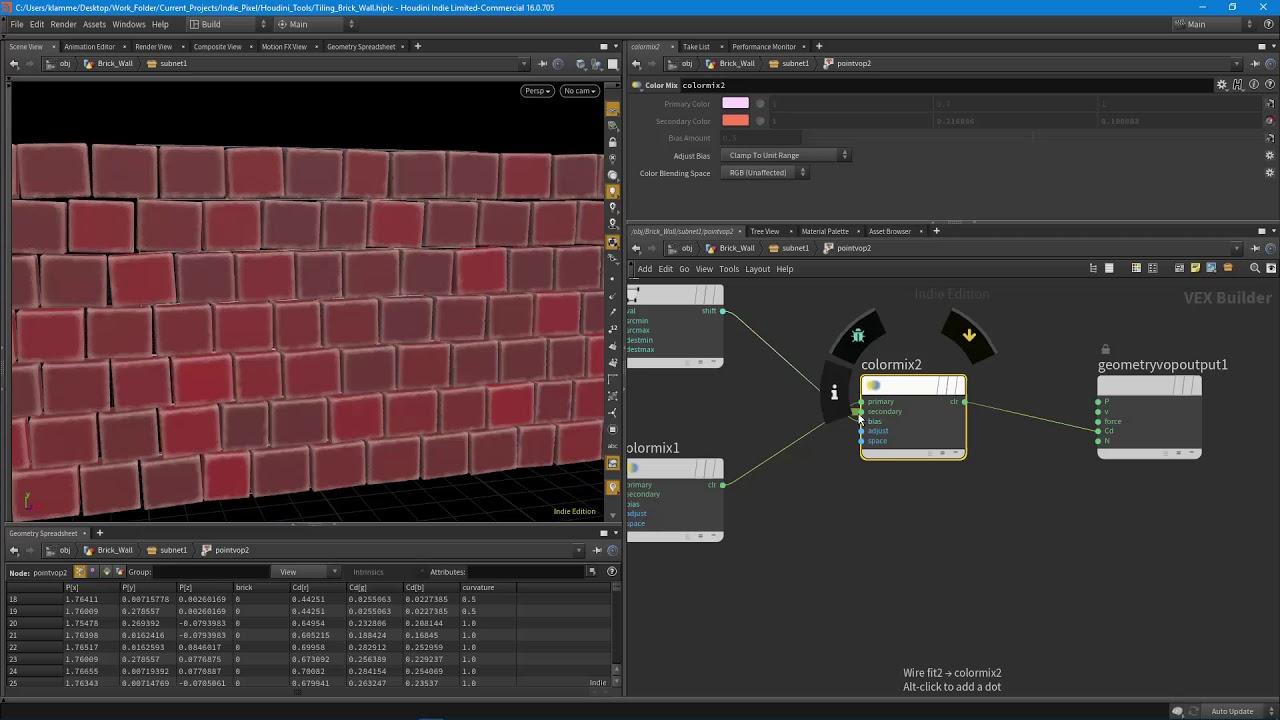 Houdini16 Tiling Brick