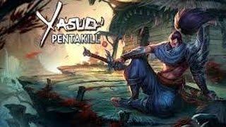 Yasuo montage 1 - Top 10 Yasuo PENTAKILL - 1 VS 5 - League Of Legends